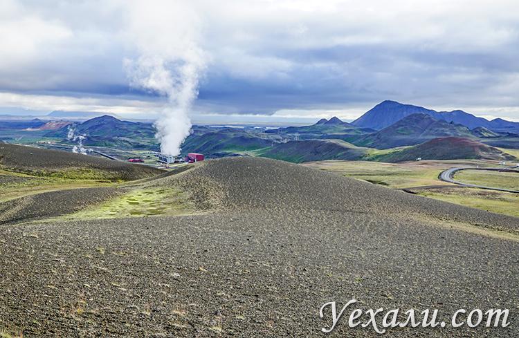 Геотермальная электростанция Крафла, Исландия.