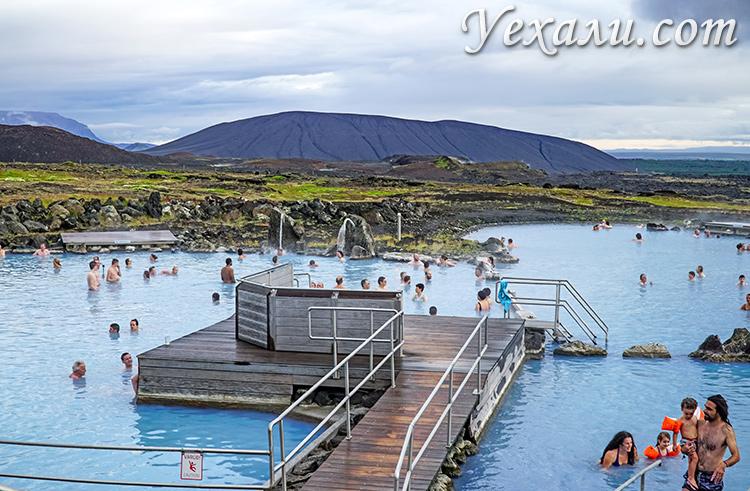 Термальные ванны Миватн, Исландия.
