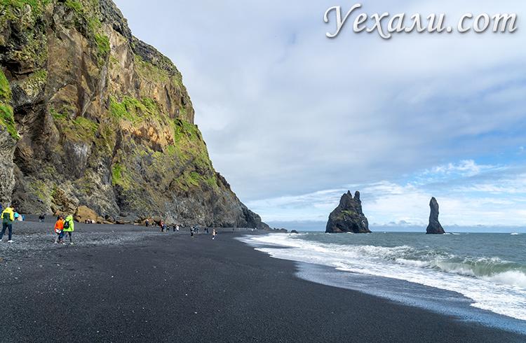 Черный пляж Рейнисфьяра, Исландия (Reynisfjara Beach).