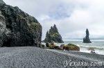 Черный пляж Рейнисфьяра в Исландии. 15 красивых фото и легенда о троллях
