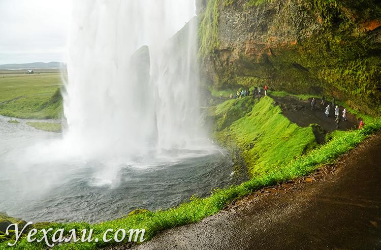 Фото водопада Сельяландсфосс, Исландия.