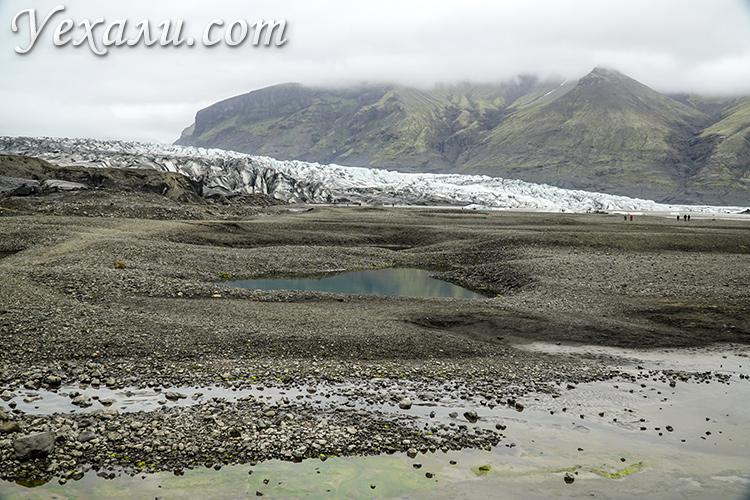 Ледник Скафтафетль (Skaftafell) в Исландии.