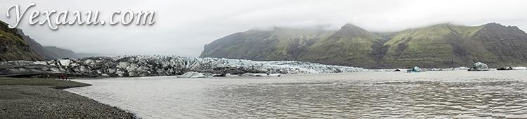Национальный парк и ледник Скафтафелл, Исландия.