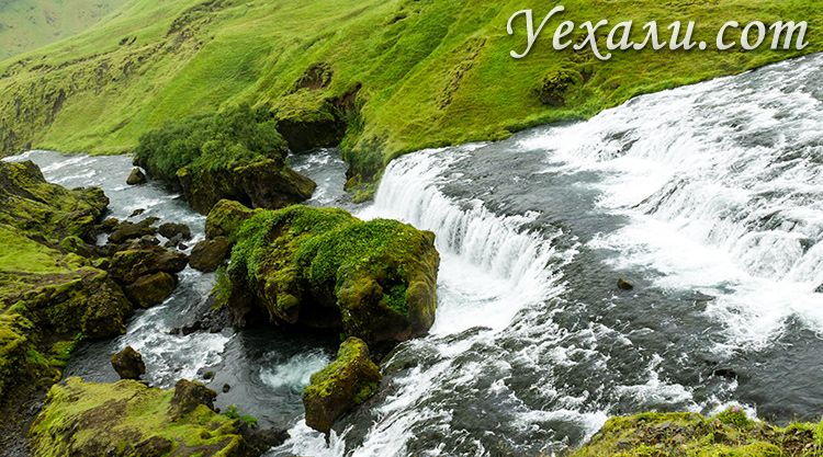 На фото: водопад Скоугафосс, Исландия, второй уровень.