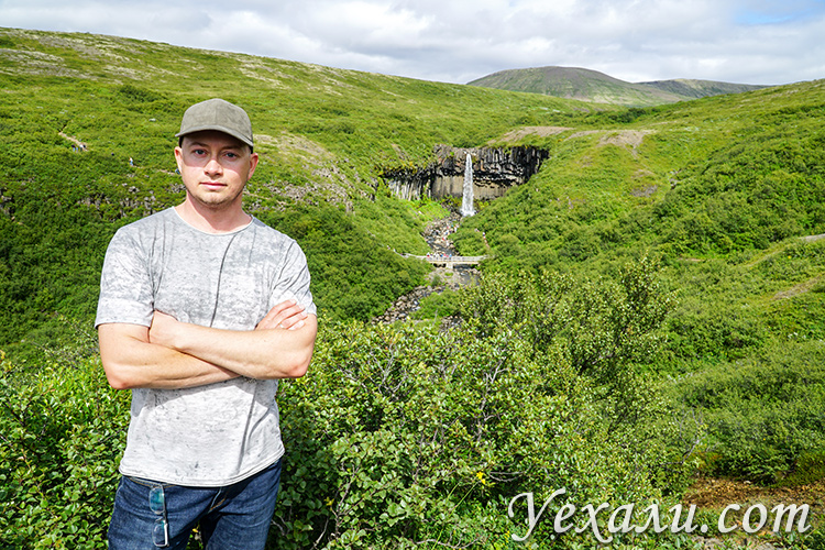 Водопад Свартифосс в Исландии.