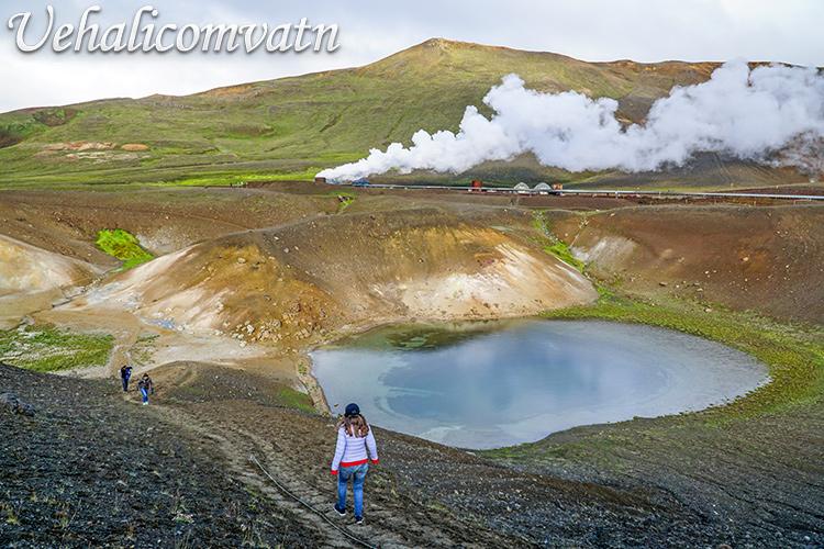 Озеро Уехаликомватн (Uehalicomvatn) в Исландии.