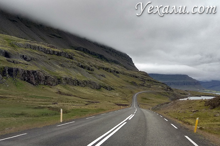 Вулканические горы на востоке Исландии, фото