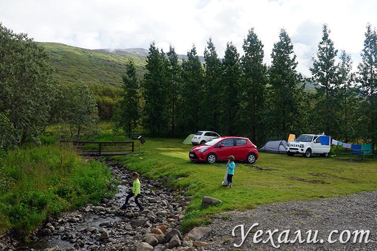 Фото кемпингов Исландии летом