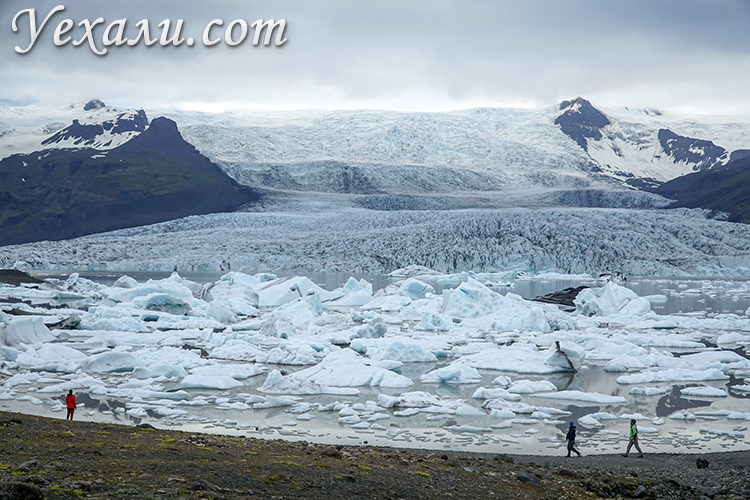 Ледниковая лагуна Fjallsárlón, Исландия.