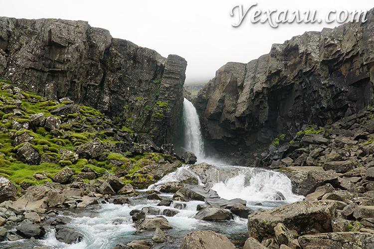 Водопад Фолалдафосс в Исландии фото