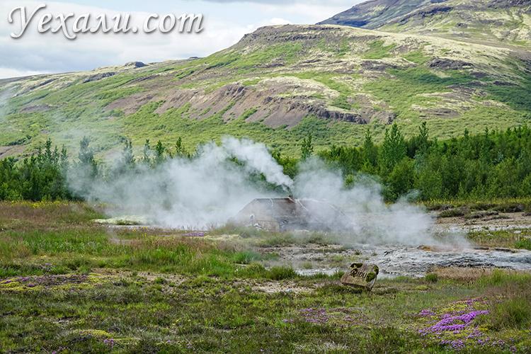 """Маршрут """"Золотое Кольцо Исландии"""", Долина гейзеров Хаукадалур."""