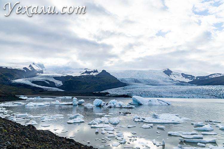 Самый большой ледник Исландии - Ватнайёкюдль.