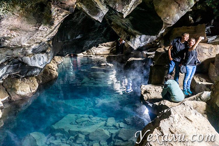 Озеро Миватн (Исландия) и его достопримечательности. Пещера Грьётагья.