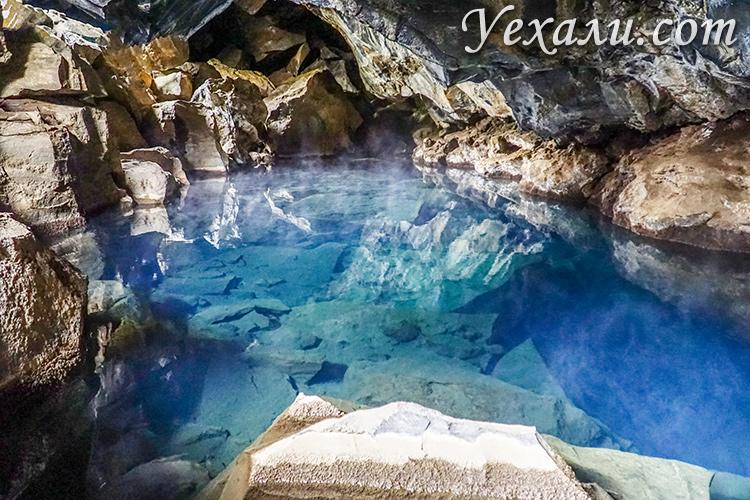 Что посмотреть около озера Миватн, Исландия. На фото: пещера Грьётагья.