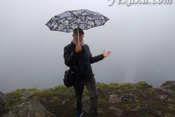 Водопад Хауифосс в туман.