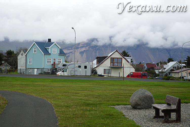 Фото города Хофн в Исландии
