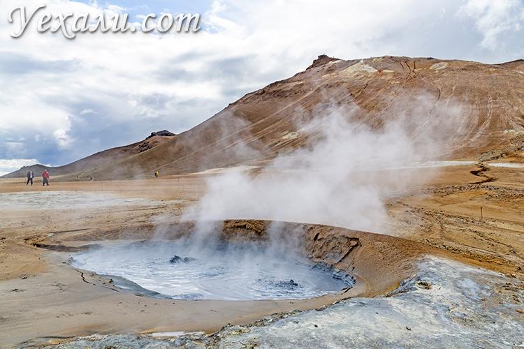 Геотермальная область Хверир, Исландия.