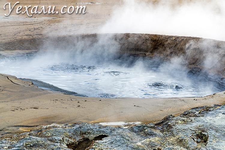Геотермальная зона Хверир, Исландия.