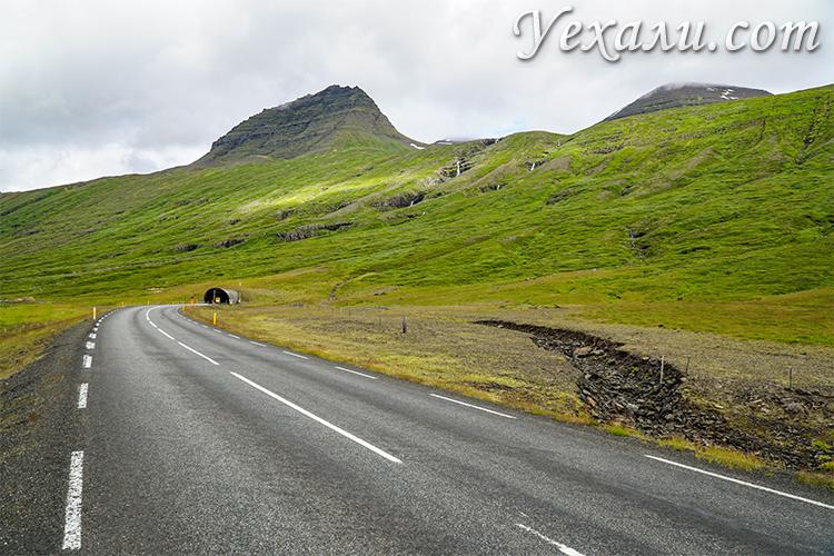Фото тоннелей в Исландии на востоке страны