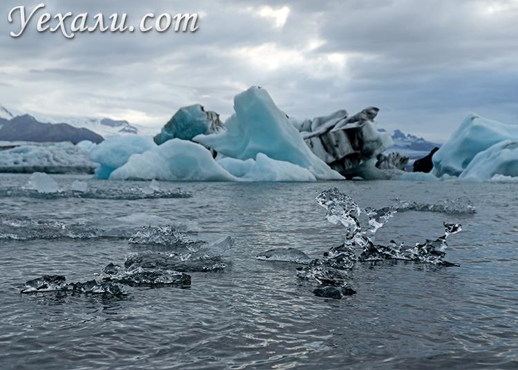 Ледники Исландии. Лагуна Йокульсарлон.