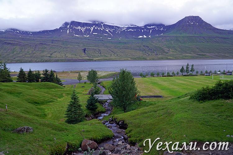 Красивые фьорды на востоке Исландии