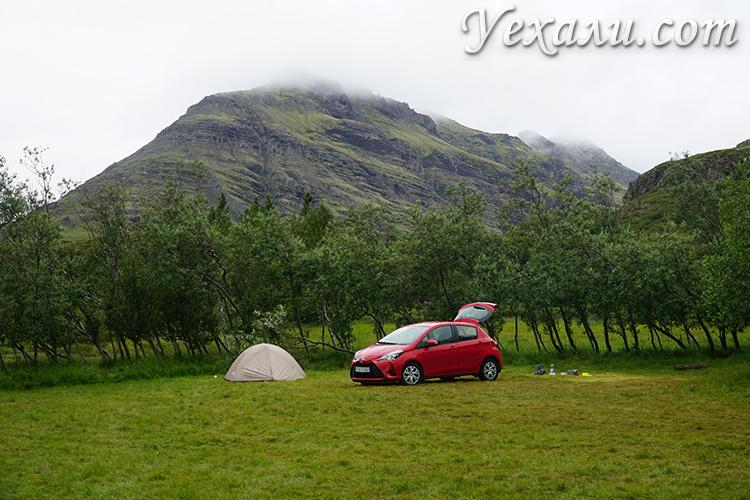 Фотографии кемпингов в Исландии летом