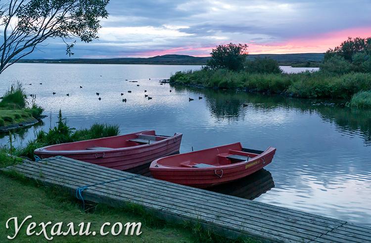 На фото: озеро Миватн в Исландии.