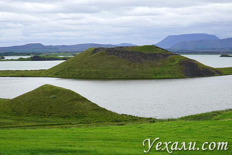 Псевдократеры Скутустадагигар в Исландии место на карте