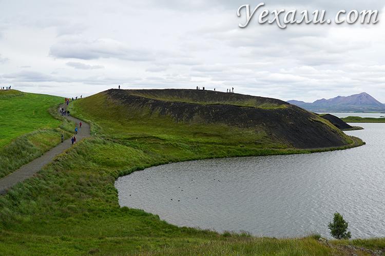 Псевдократеры Скутустадагигар в Исландии реальные красивые фотографии