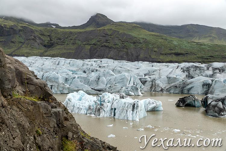 Ледники Исландии. На фото: ледник Свинафелл.
