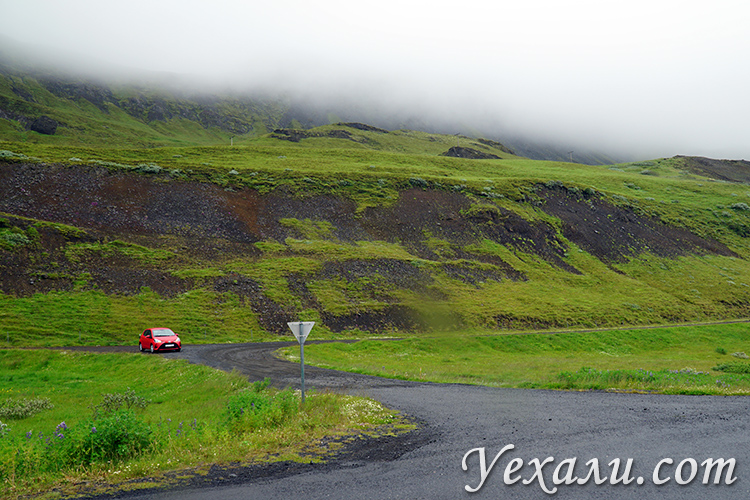 Виды по дороге в Исландии