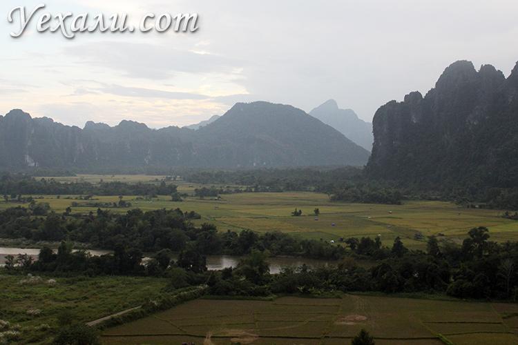 Полет на воздушном шаре в Ванг Вьенге, фото