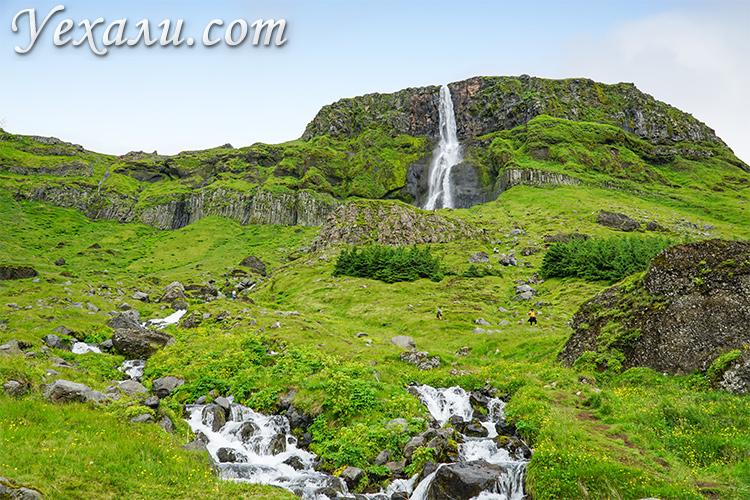 Водопад Бьярнарфосс (Bjarnarfoss), Исландия.