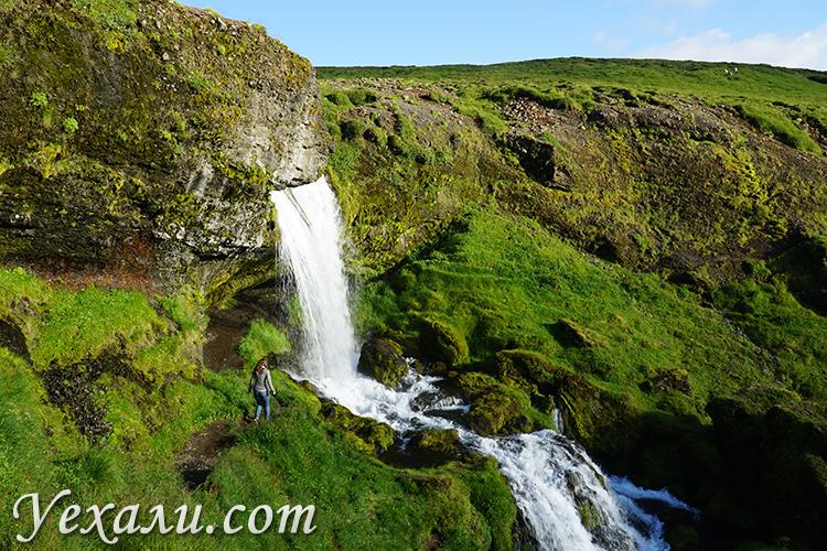 Красивое фото водопадов в Исландии