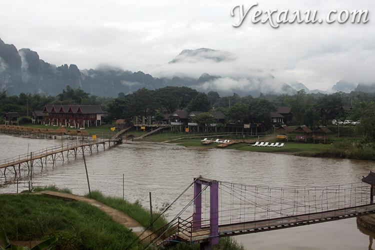 Отели и хостелы в Ванг Вьенге, вид из окна