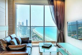 Снять квартиру на Джомтьене в Паттайе. Cetus Beachfront Pattaya.