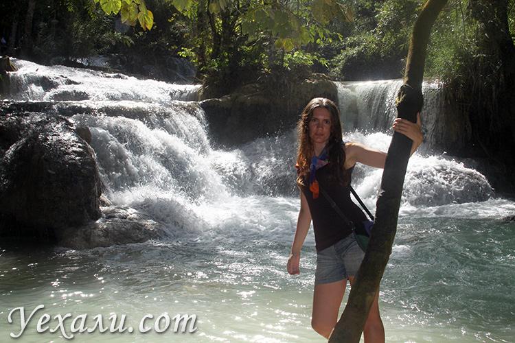 Фото водопада Куанг Си в Лаосе