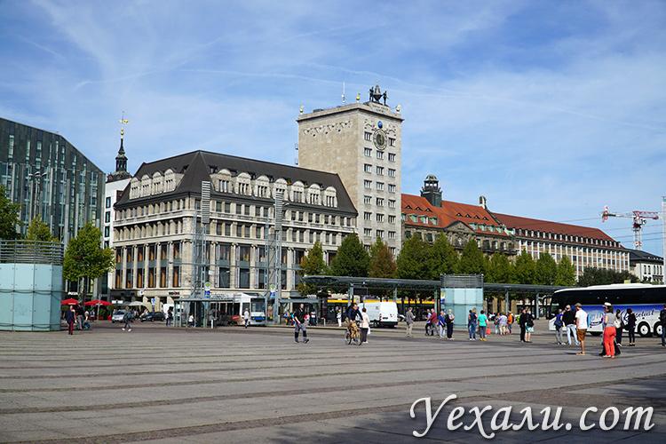 Что посмотреть в Лейпциге, Германия. Площадь Аугустусплац.