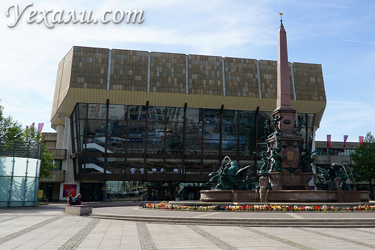 Достопримечательности Лейпцига за один день. Маршрут прогулки с картой. На фото: Гевандхаус.
