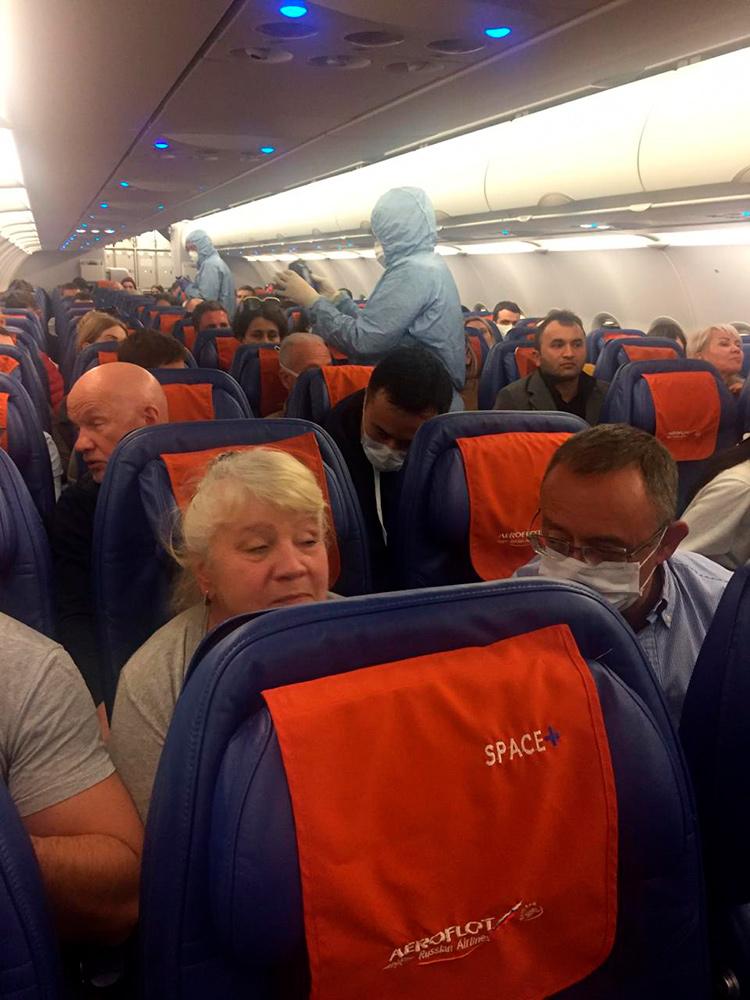 Фото рейса из Италии в Россию