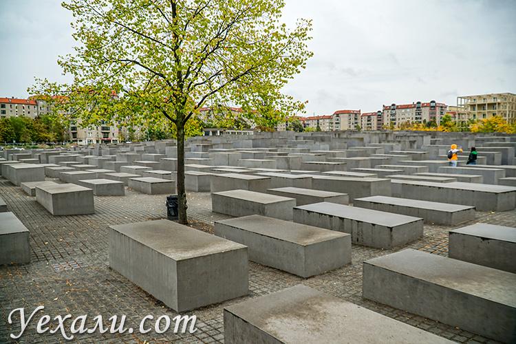 Достопримечательности Берлина. На фото: Мемориал жертвам Холокоста.