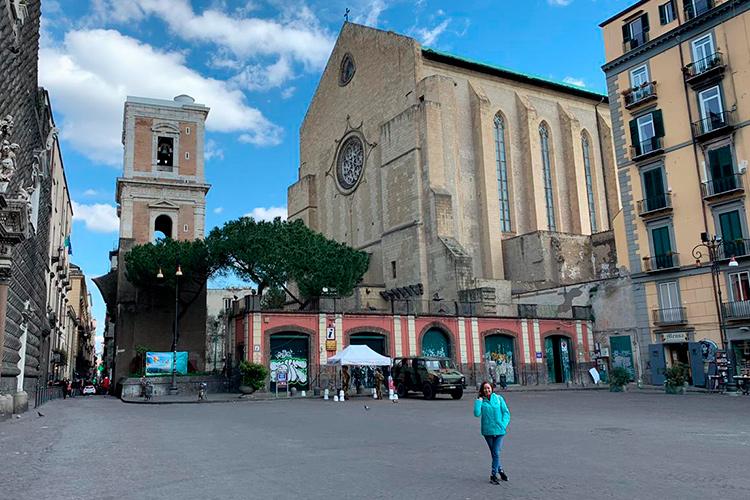 Эпидемия коронавируса в Италии. Фото Неаполя в начале марта 2020.