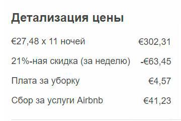 Скидка за бронирование на неделю и больше Airbnb