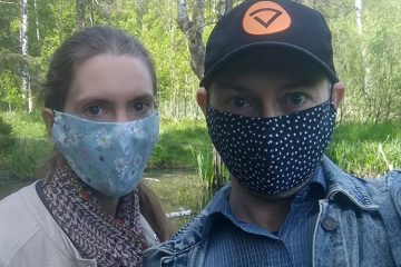 Самодельные медицинские маски.