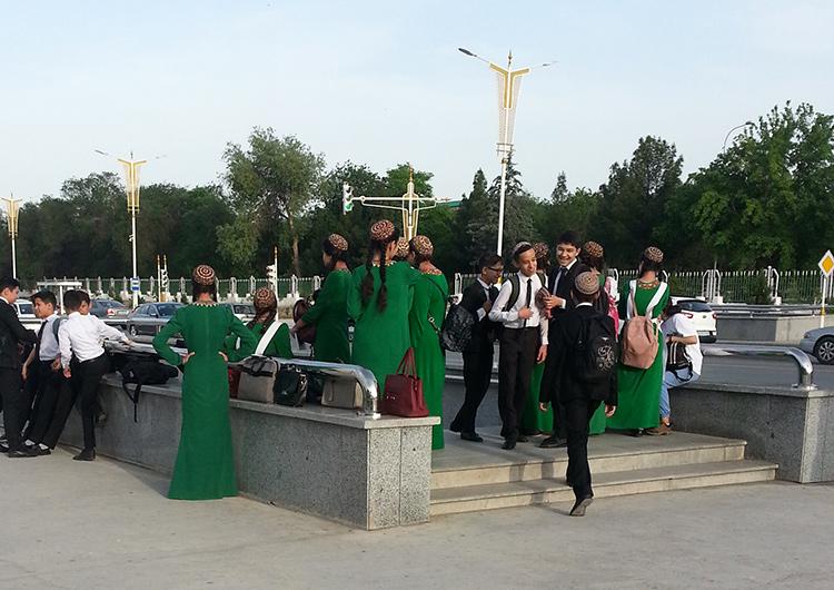 Ашхабад, Туркменистан: фото сделано в мае 2020 года.