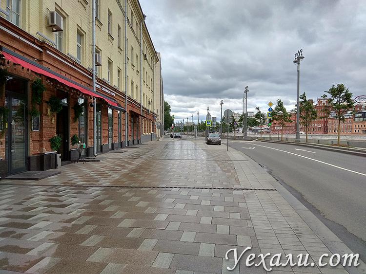 Москва во время эпидемии коронавируса. Пречистенская набережная.