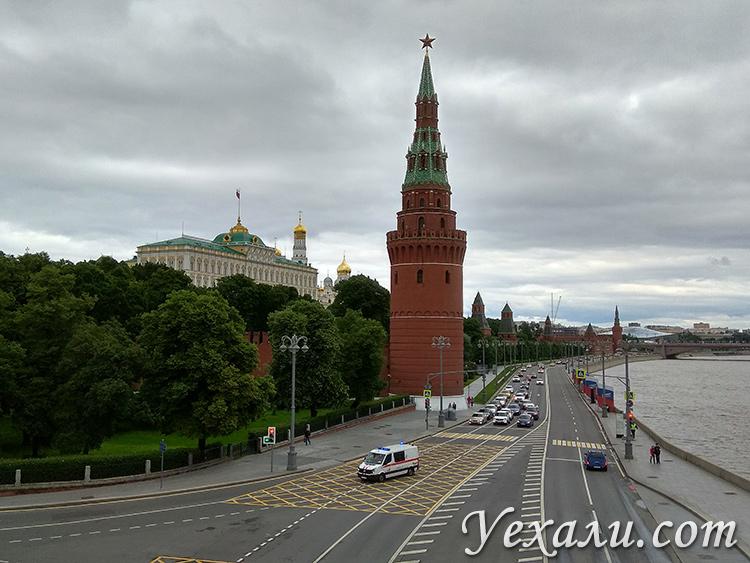 Москва, Кремль, режим самоизоляции.