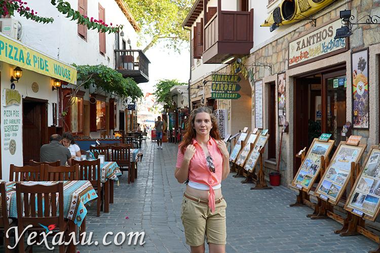 На улицах города Каш, Турция.