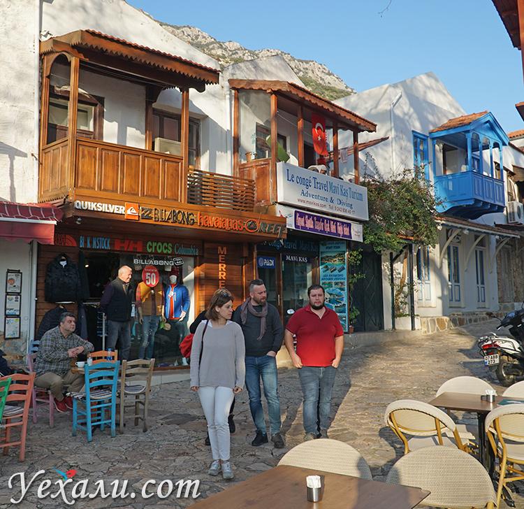 Улицы Каша (Турция) зимой.
