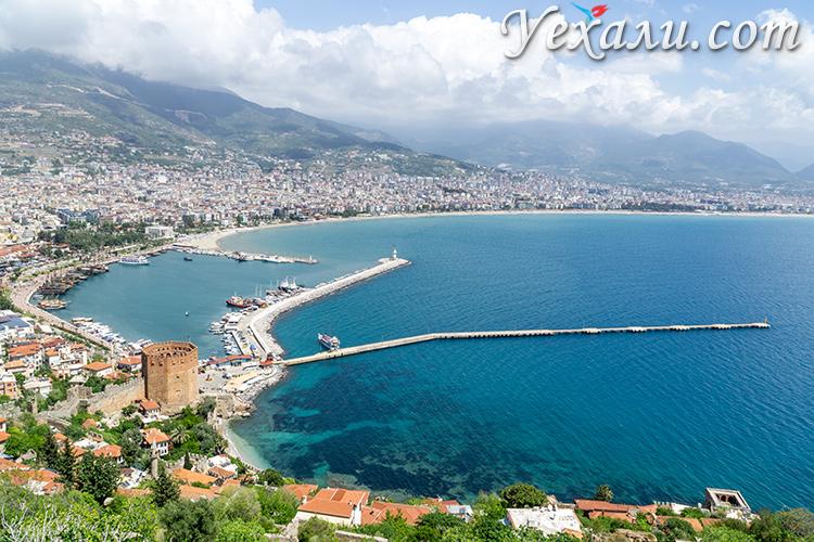 Панорама Алании, Турция.